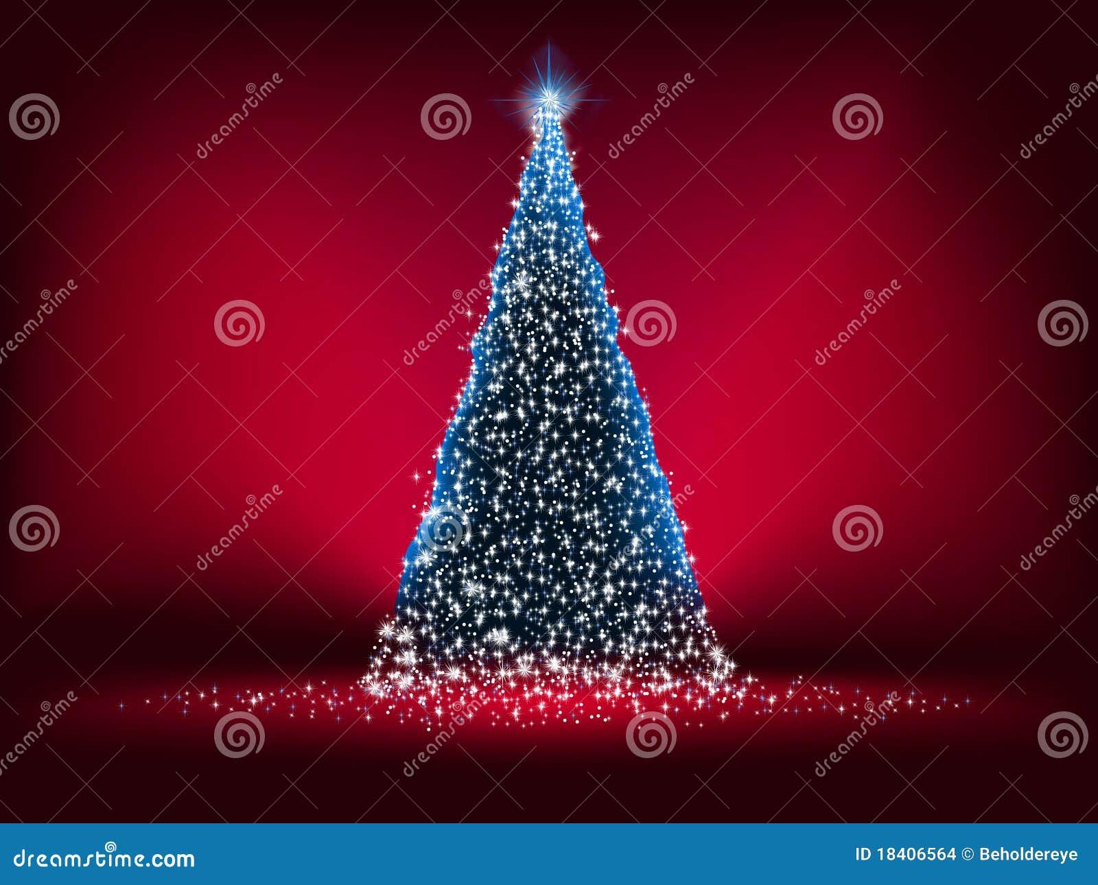 8抽象蓝色圣诞节eps浅红色的结构树