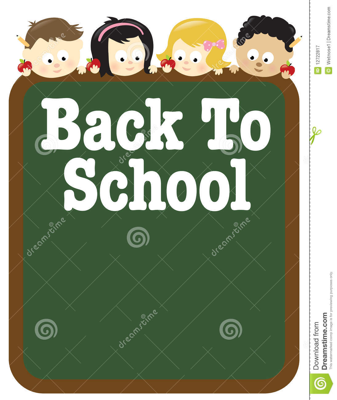 85x11 Back To School Flyer Template Stock Vector Illustration Of