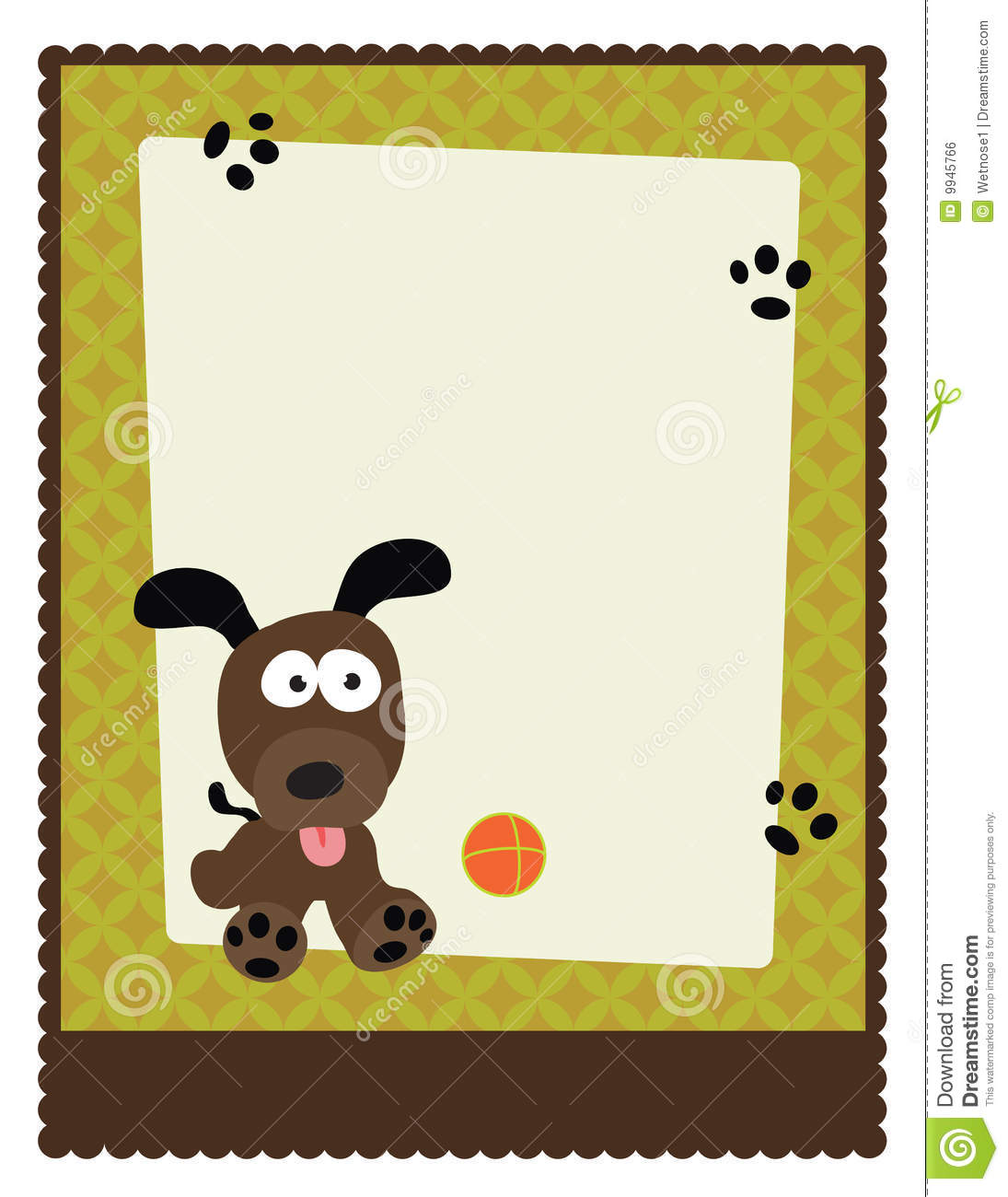 Flyer poster template stock vector image 9945766 for Puppy for sale flyer templates