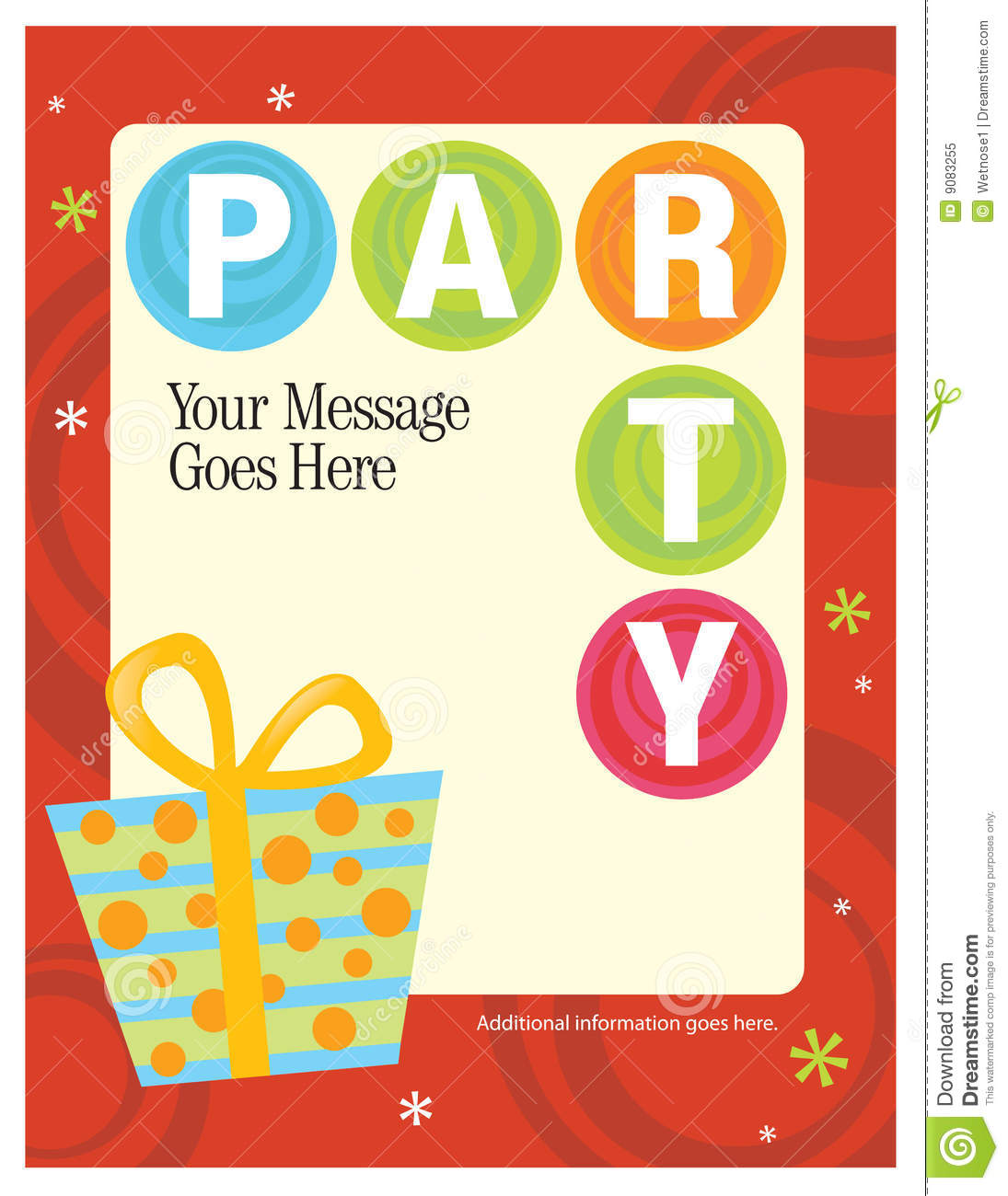 gallery of party flyer poster template stock vector image 8 5 x 11