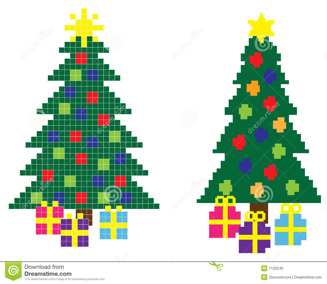 8-Bit Christmas Stock Photo - Image: 7132240