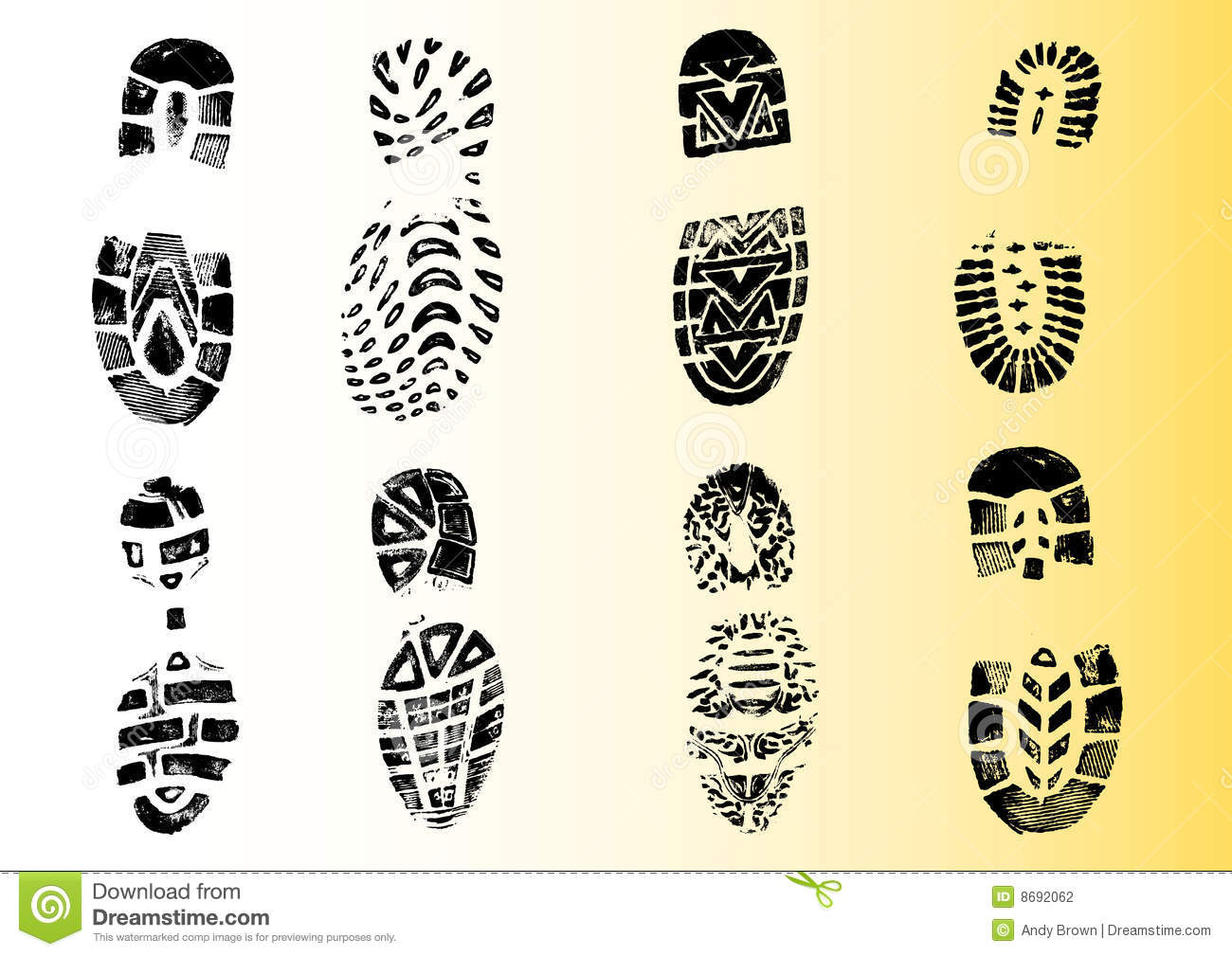 8 Detailed Shoeprints 2
