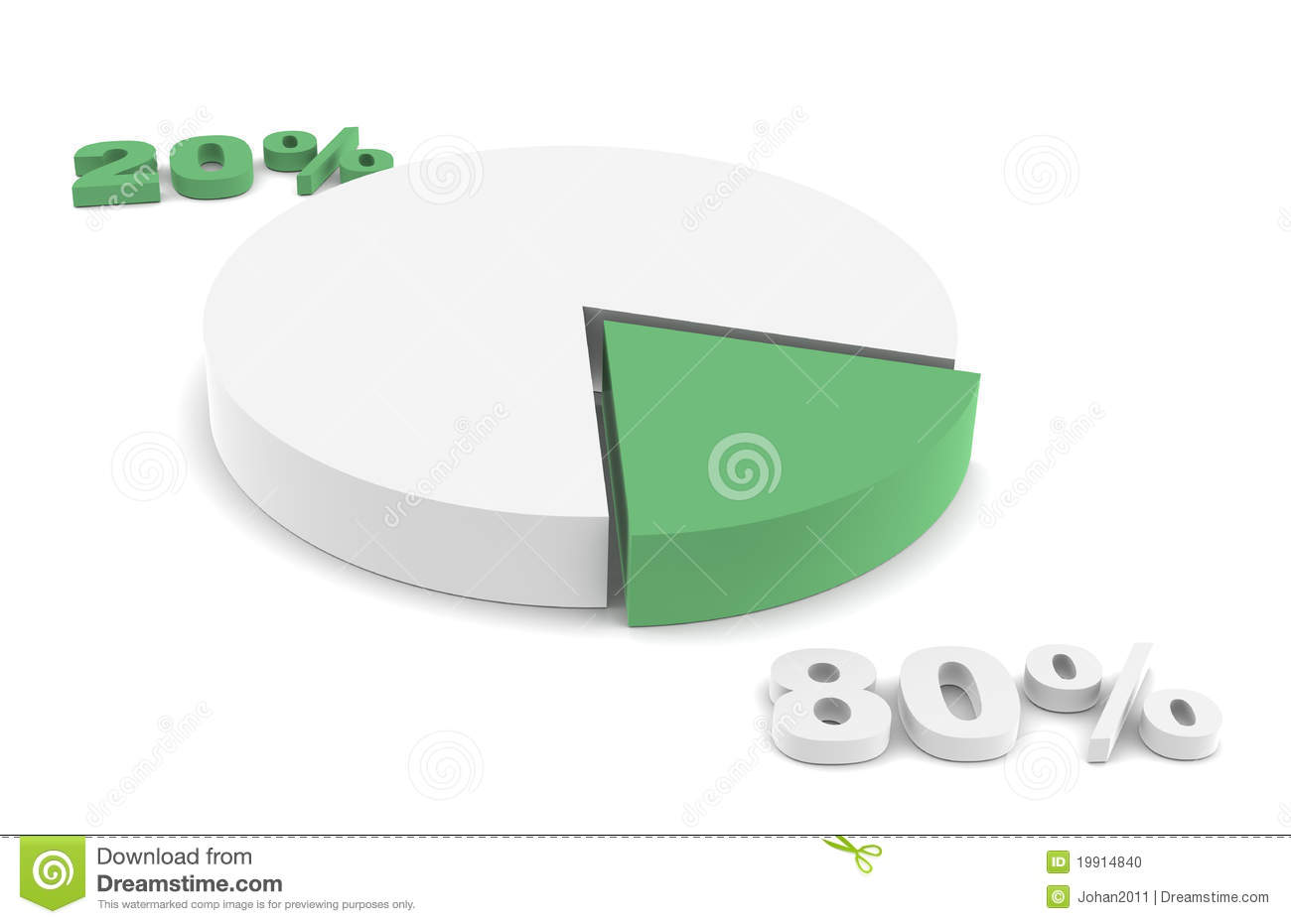 80 20 Rule Green Stock Illustration Illustration Of Ecofriendly