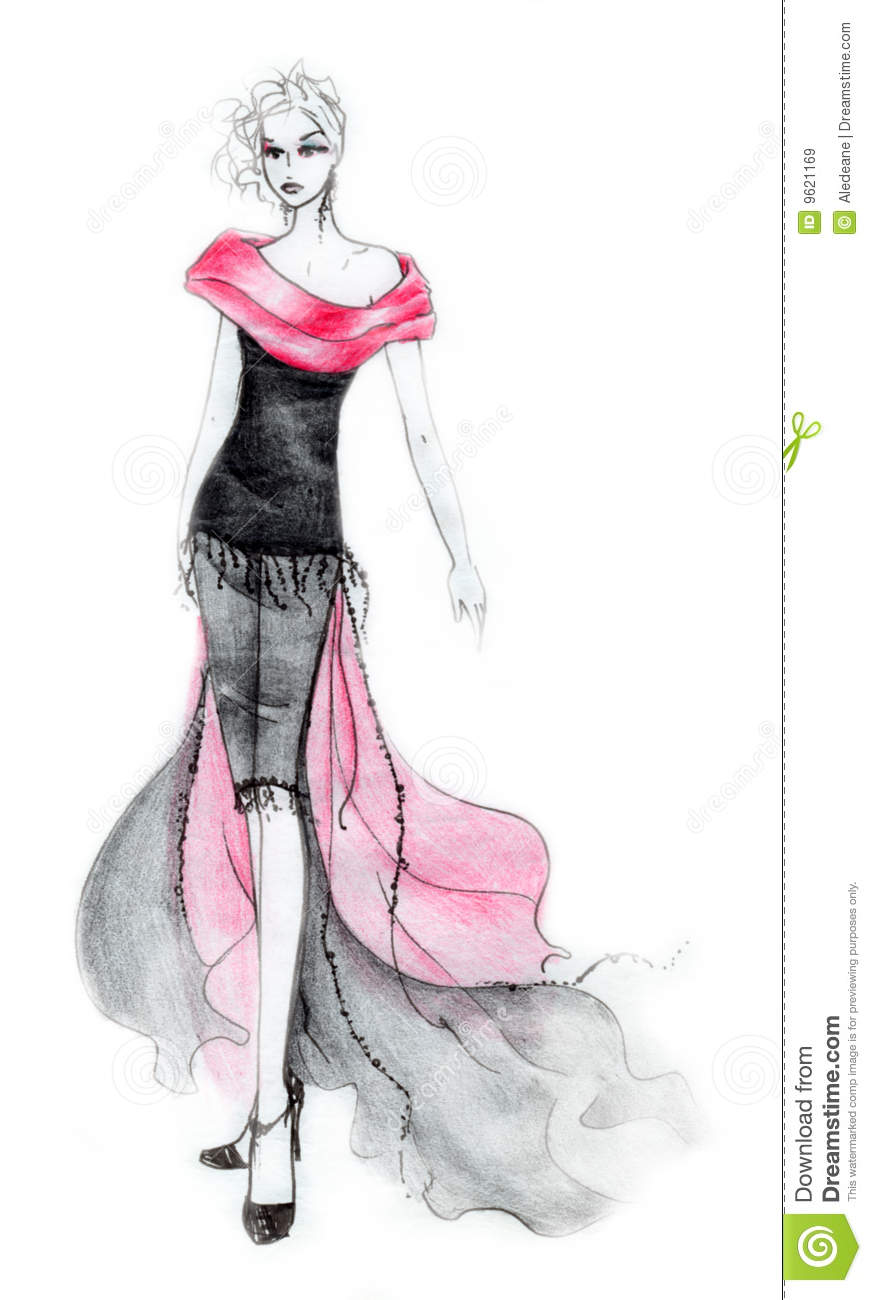 80s style fashion illustration royalty free stock images