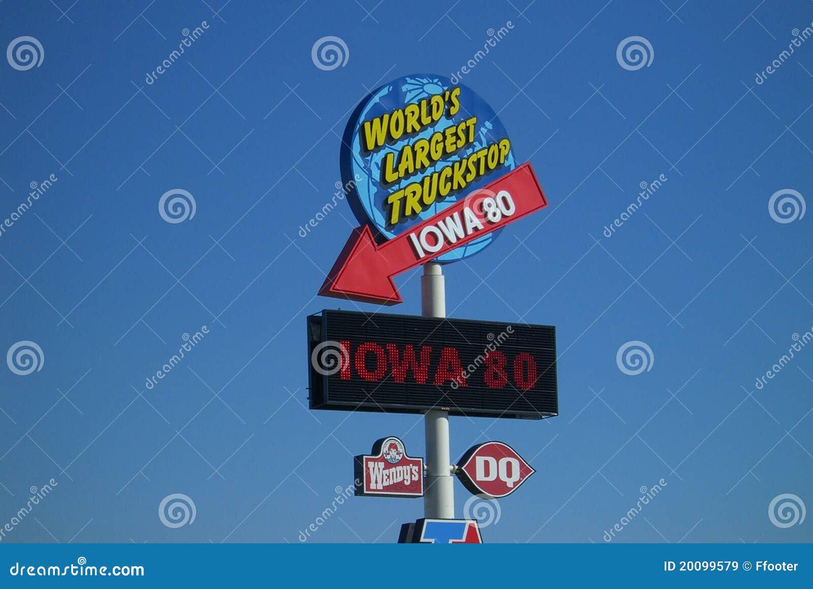 80 truckstop Iowa