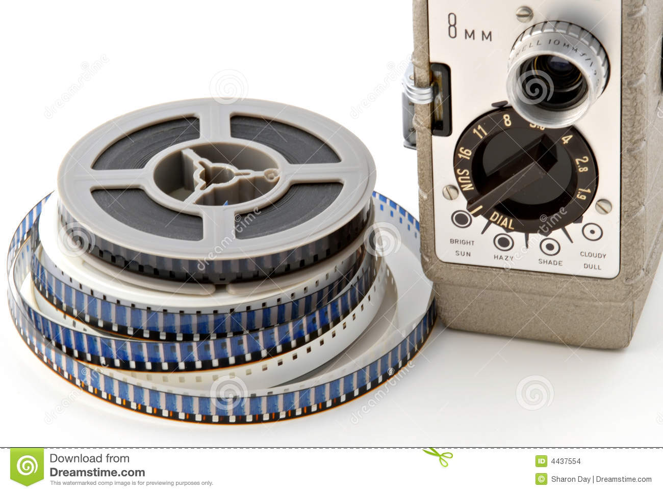 8mm movie camera amp reels stock photo image of lens