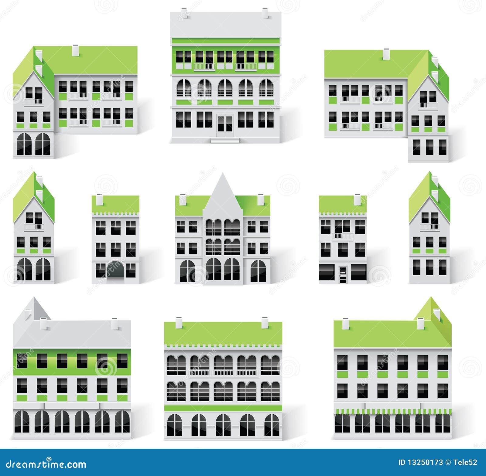9 budynków miasta tworzenia diy zestawu mapy część