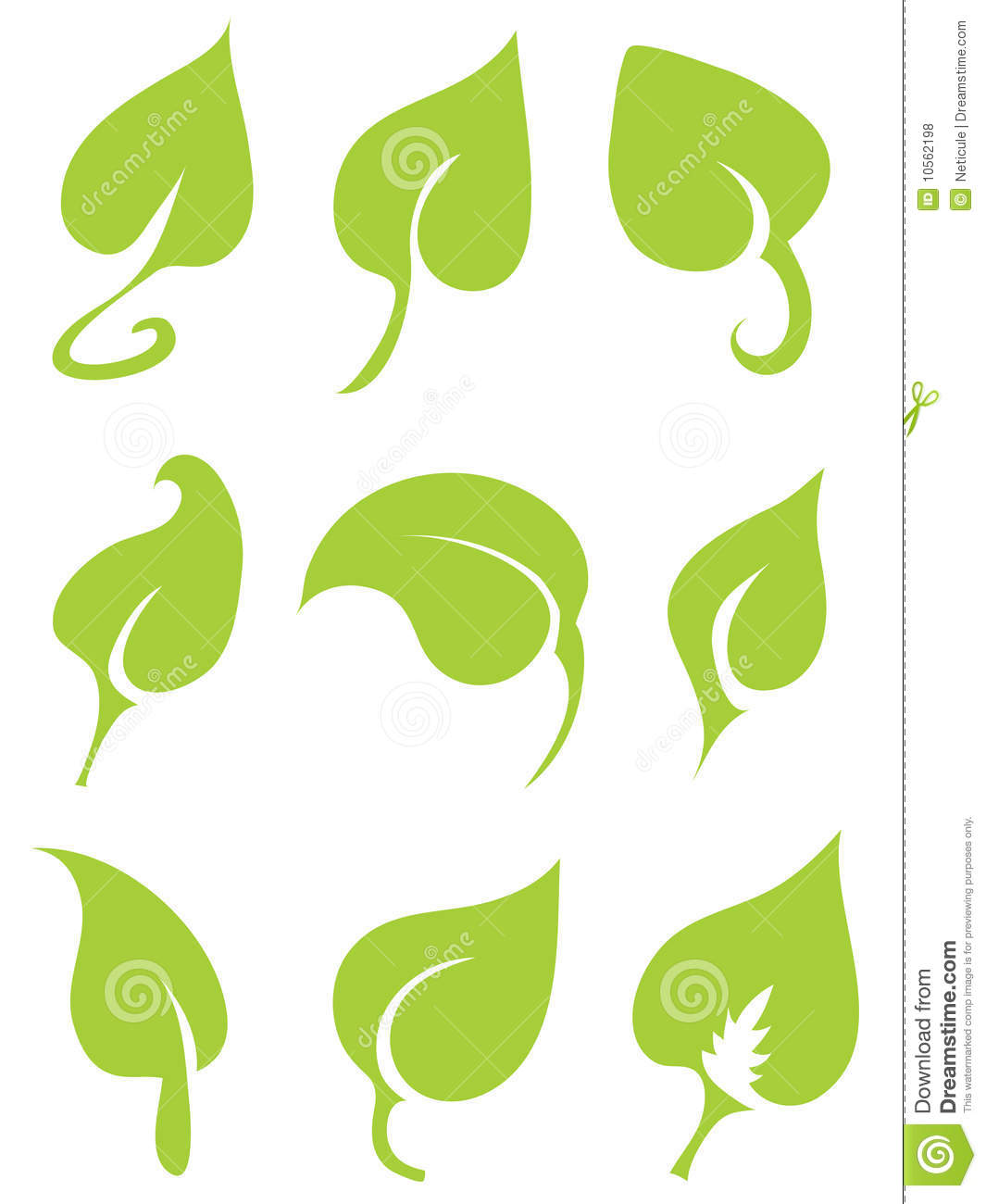 Green Vector Leaves Royalty Free Stock Photos - Image: 10562198