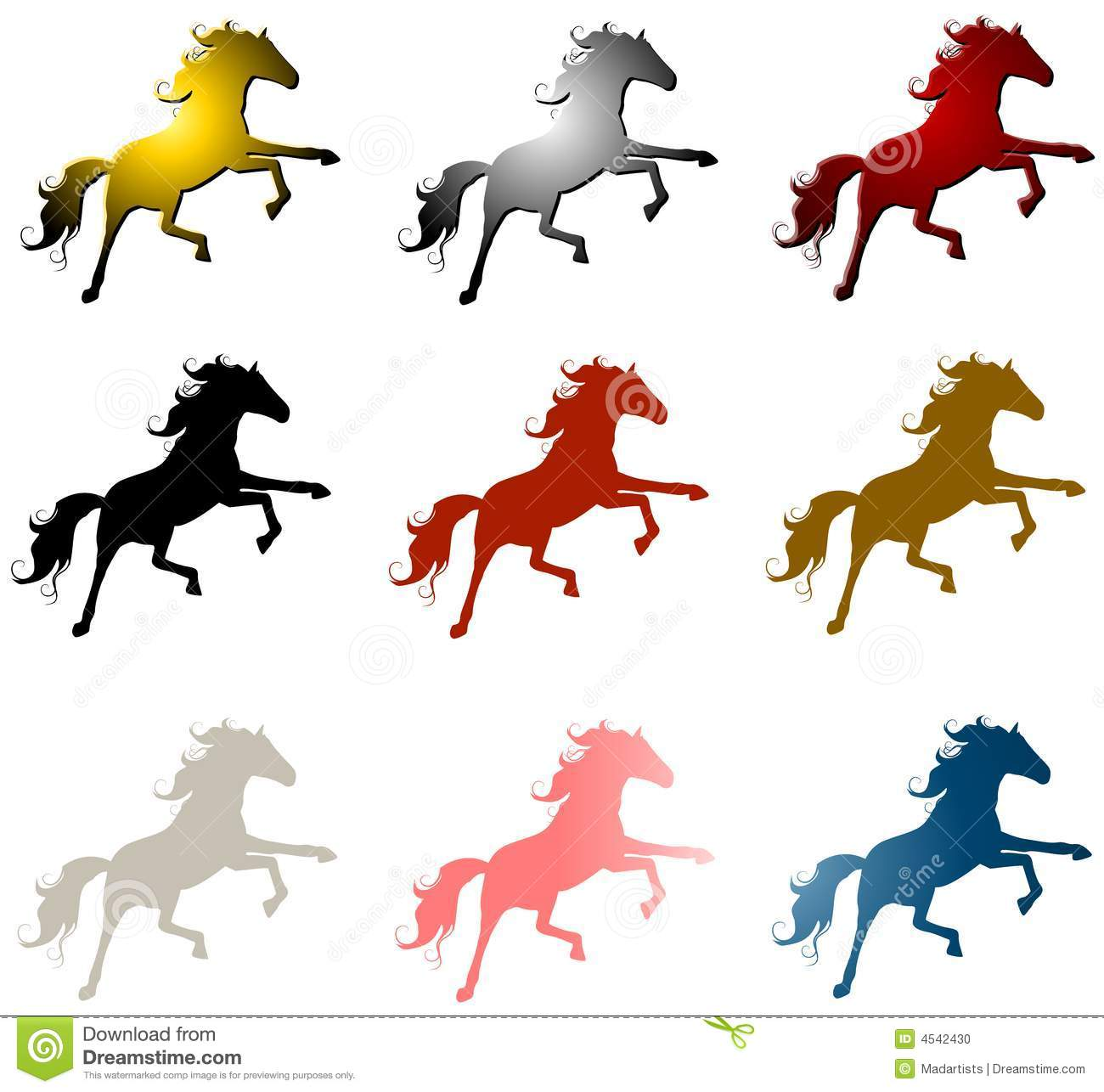 9 horse stallions clip art stock illustration illustration of rh dreamstime com black stallion clipart stallion clipart