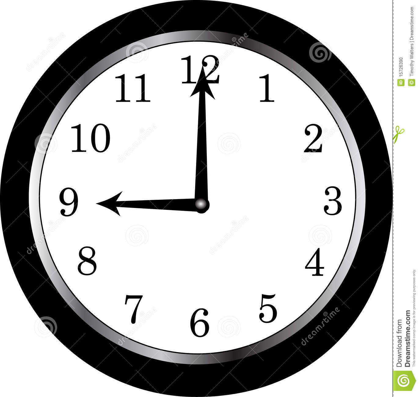 clock Stock Photo - Image: 15726390