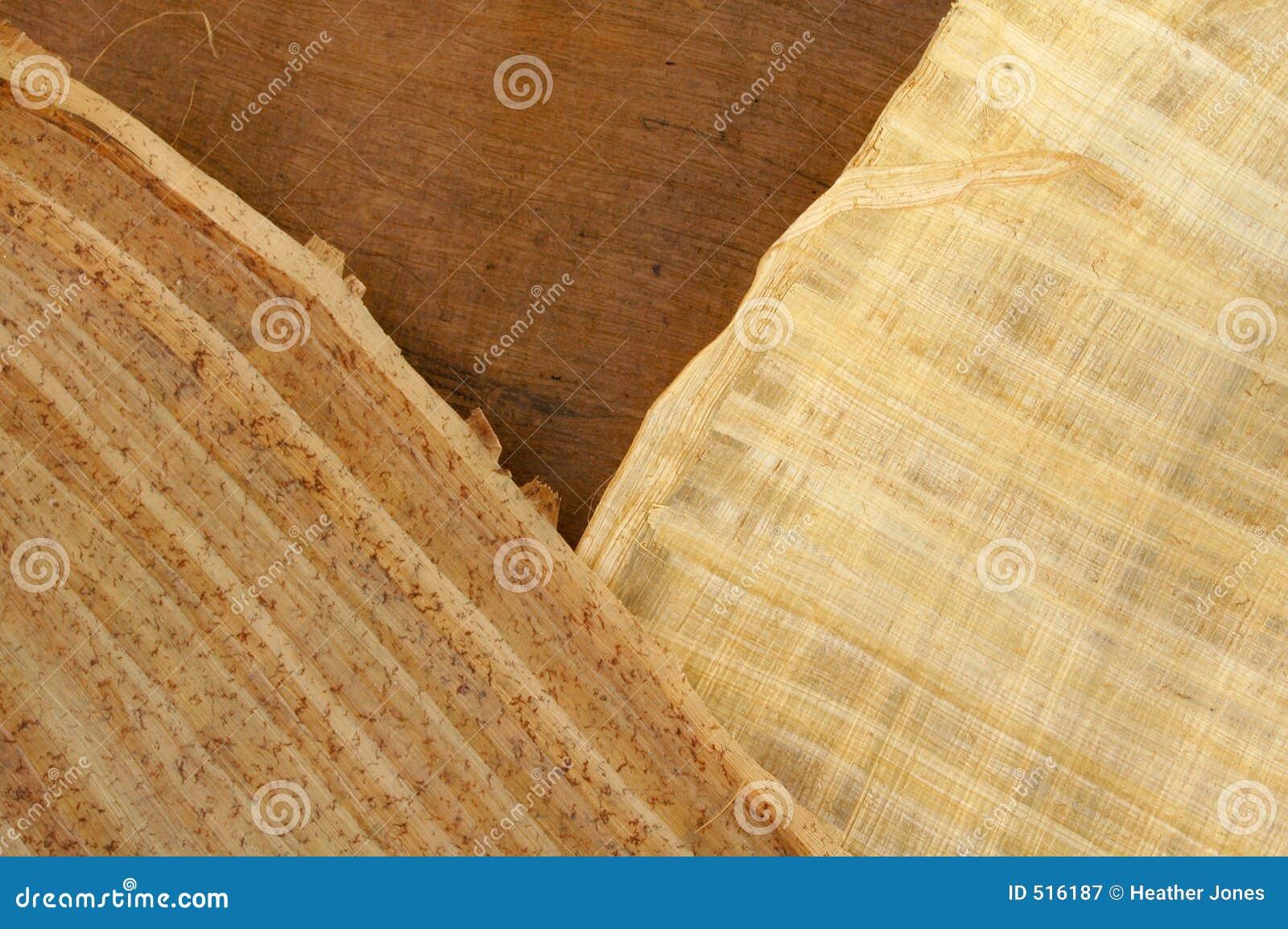 9 papper mönstrat trä