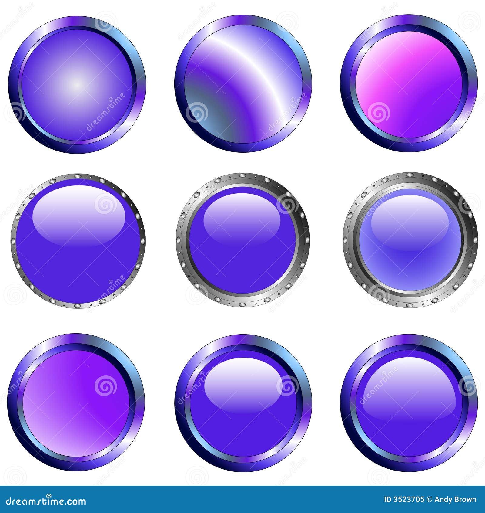 9 purpurrote Web-Tasten