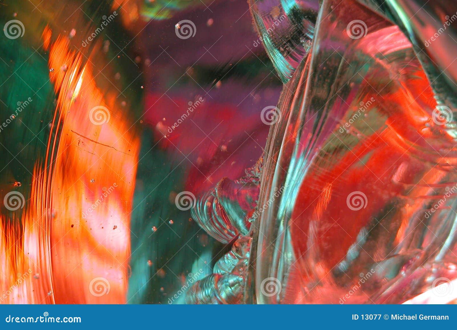 9 szklankę abstraktów roztopionego