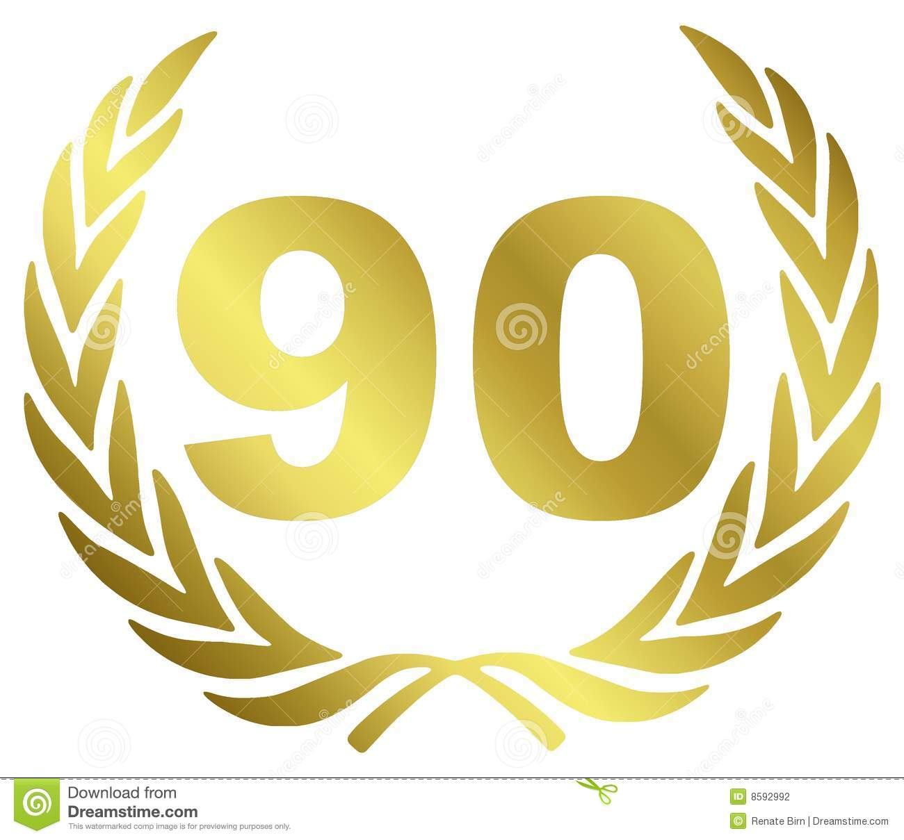 90 anniversary stock illustration illustration of celebration 8592992