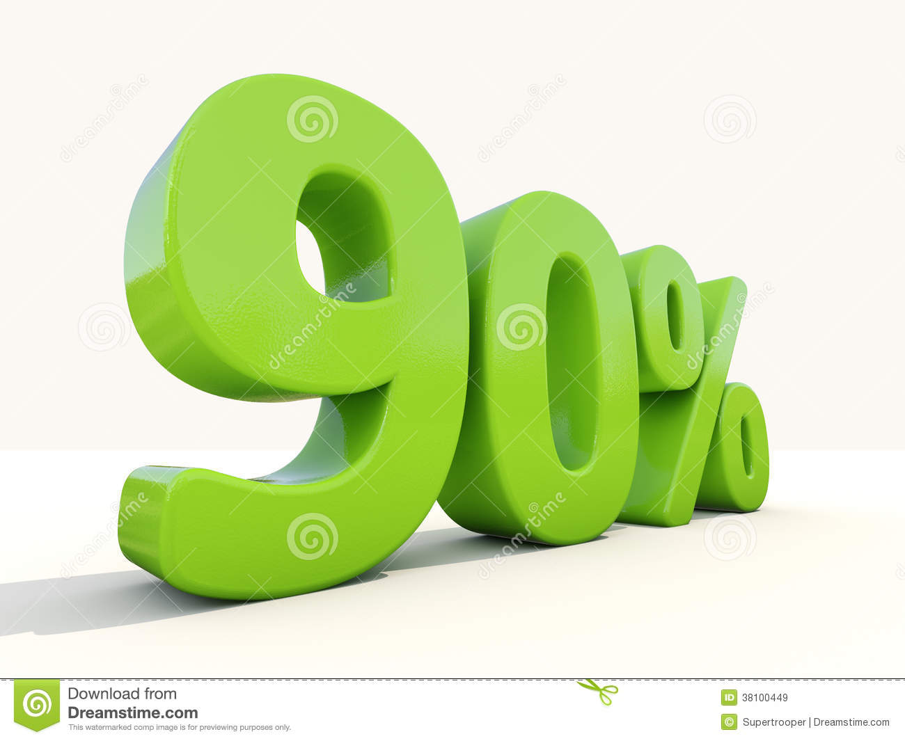 90  percentage rate icon on a white background