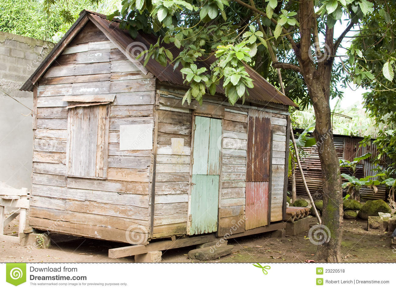 90 Year Old Caribbean House Nicaragua Royalty Free Stock