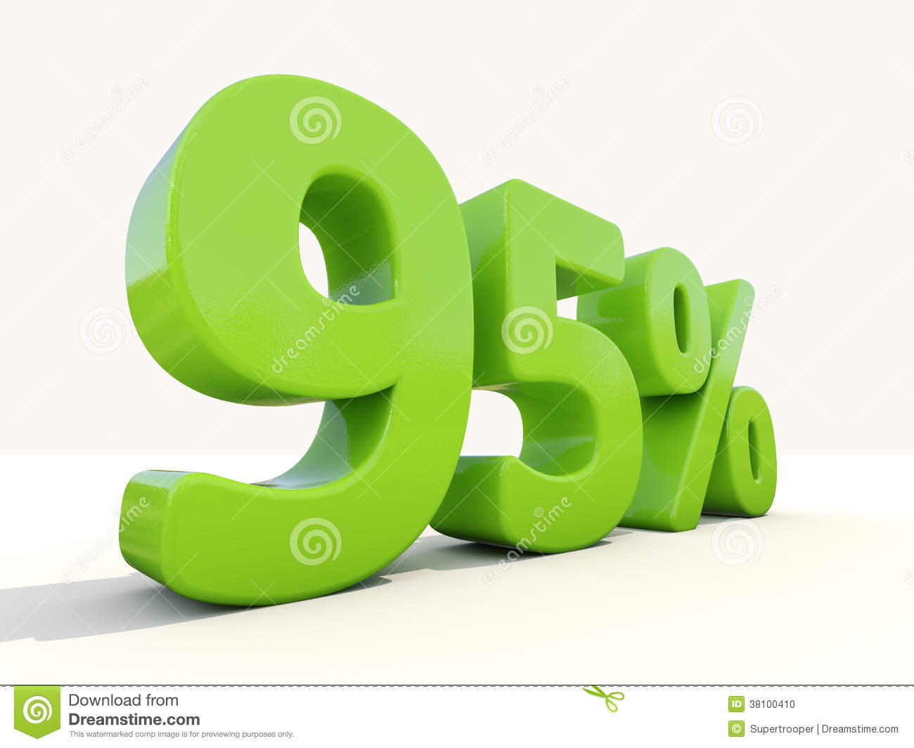 Download 95% Percentage Rate Icon On A White Background Stock Photo - Image of figure, cost: 38100410