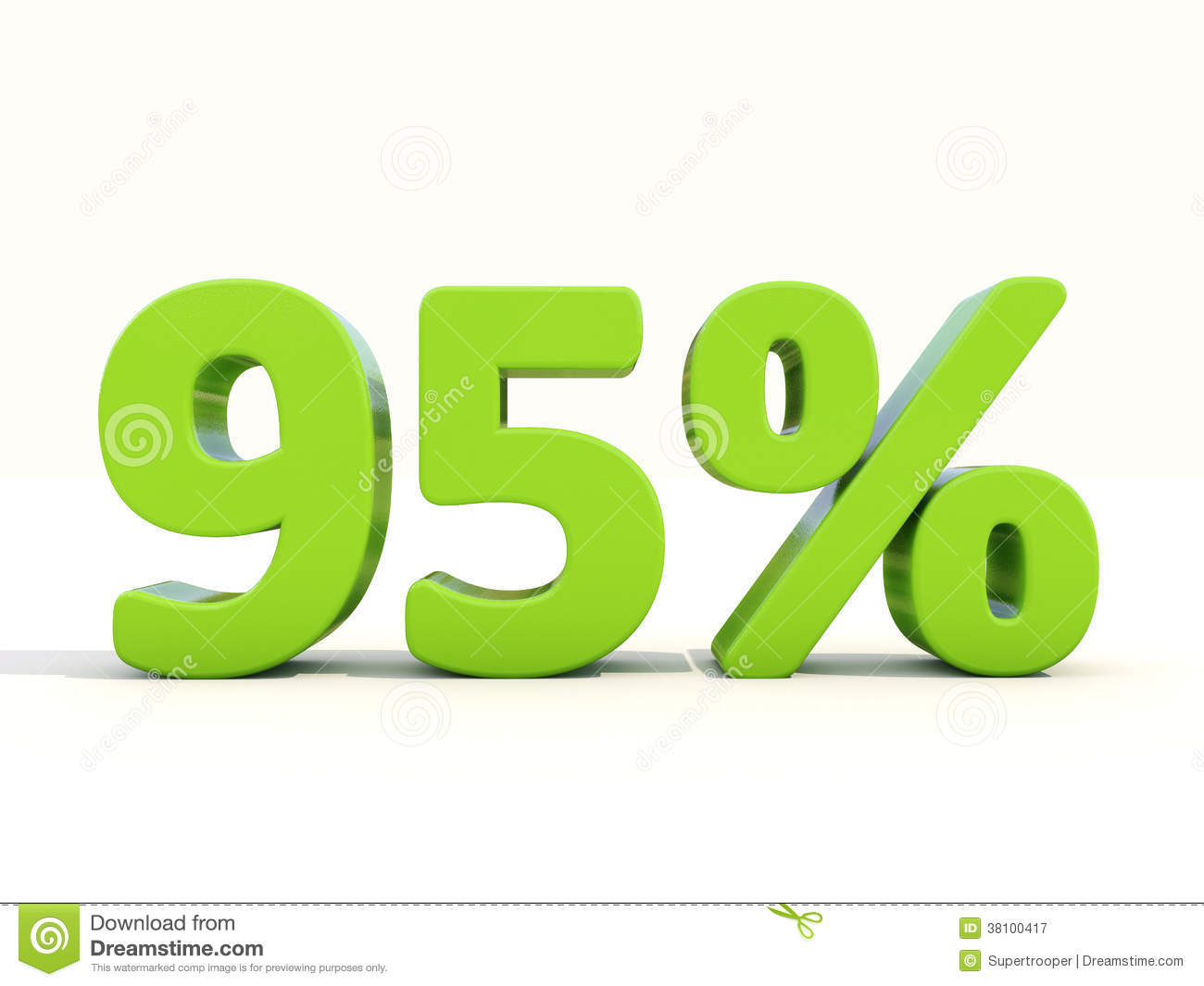 95  percentage rate icon on a white background
