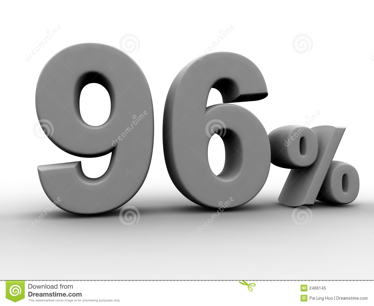 96 Percent Royalty Free Stock Photo - Image: 2466145