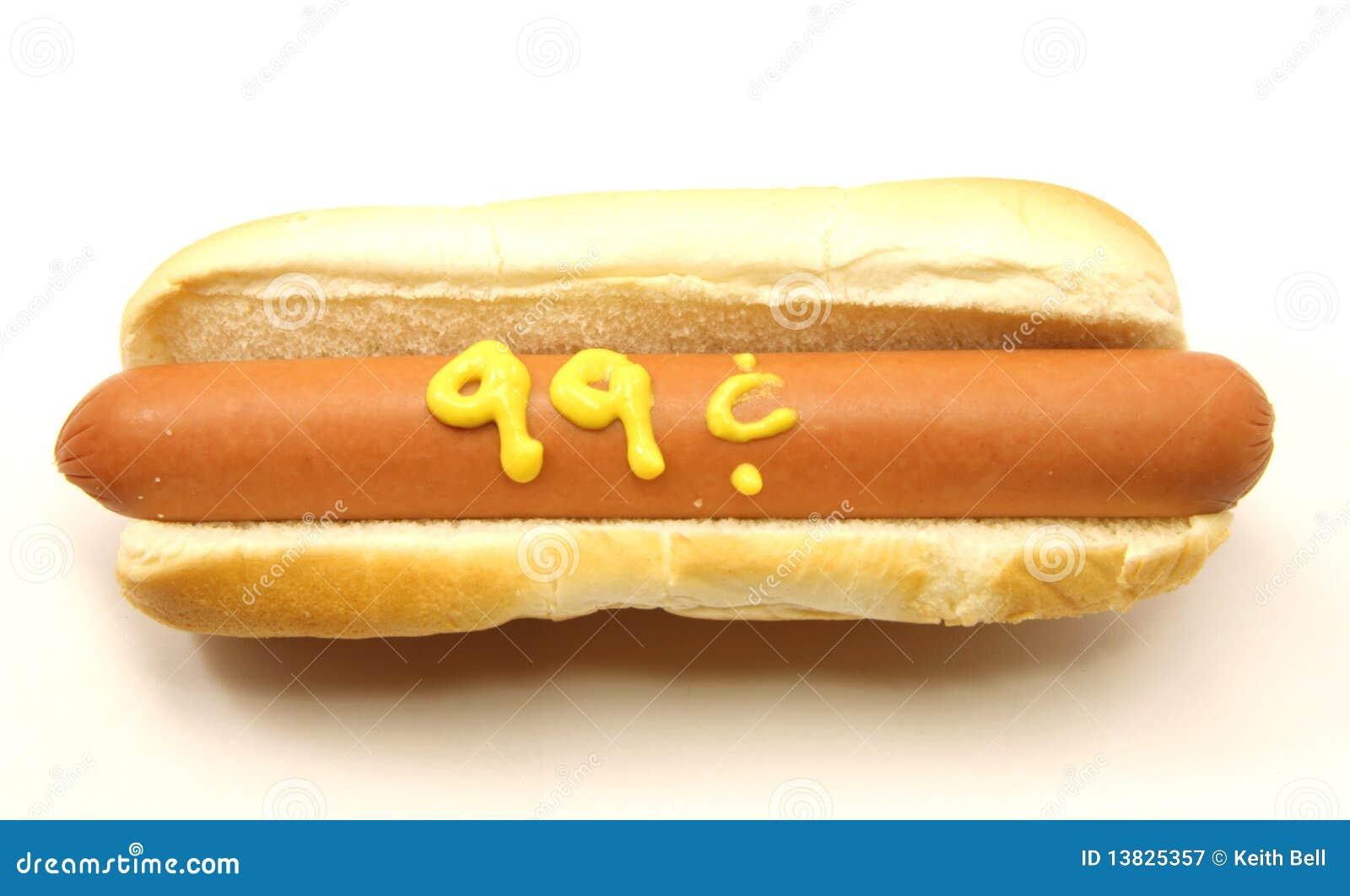 99 Cent Foot Long Hot Dog