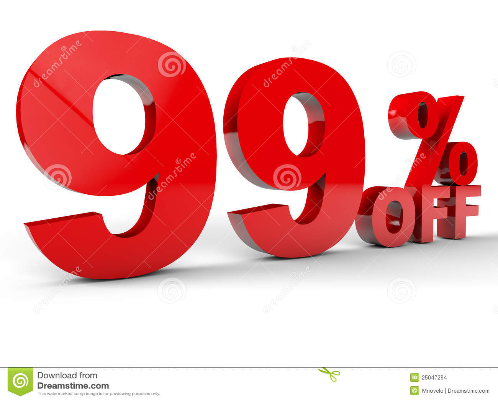 99 Percent off stock illustration. Illustration of advertising ...