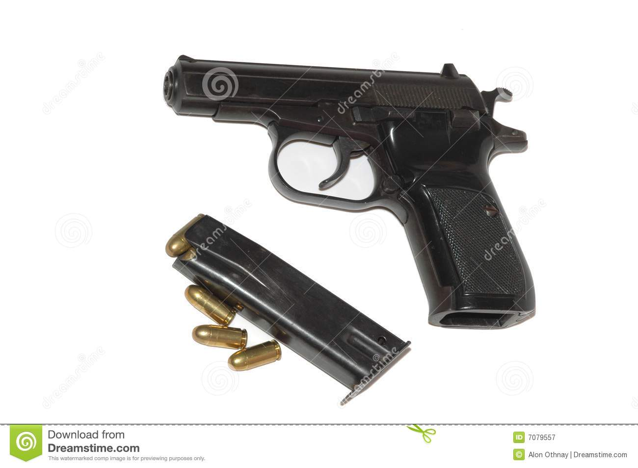 9mm Gun Royalty Free Stock Photography - Image: 7079557