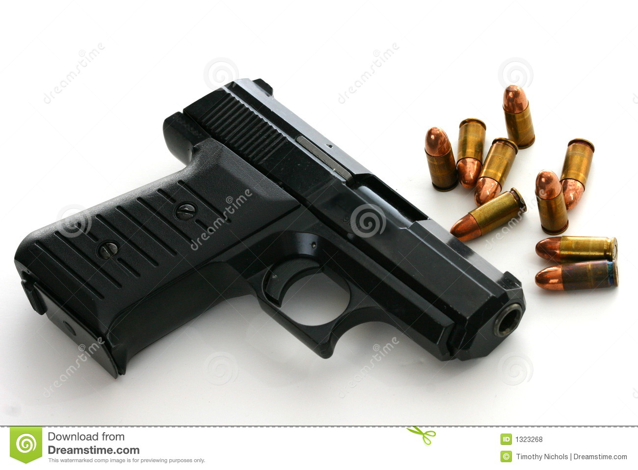 Desert Home Plans 9mm Pistol With Ammo Royalty Free Stock Photos Image