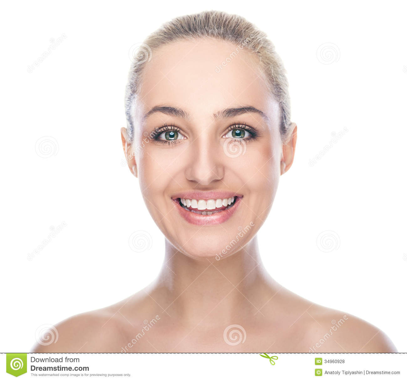 Woman Face White Background