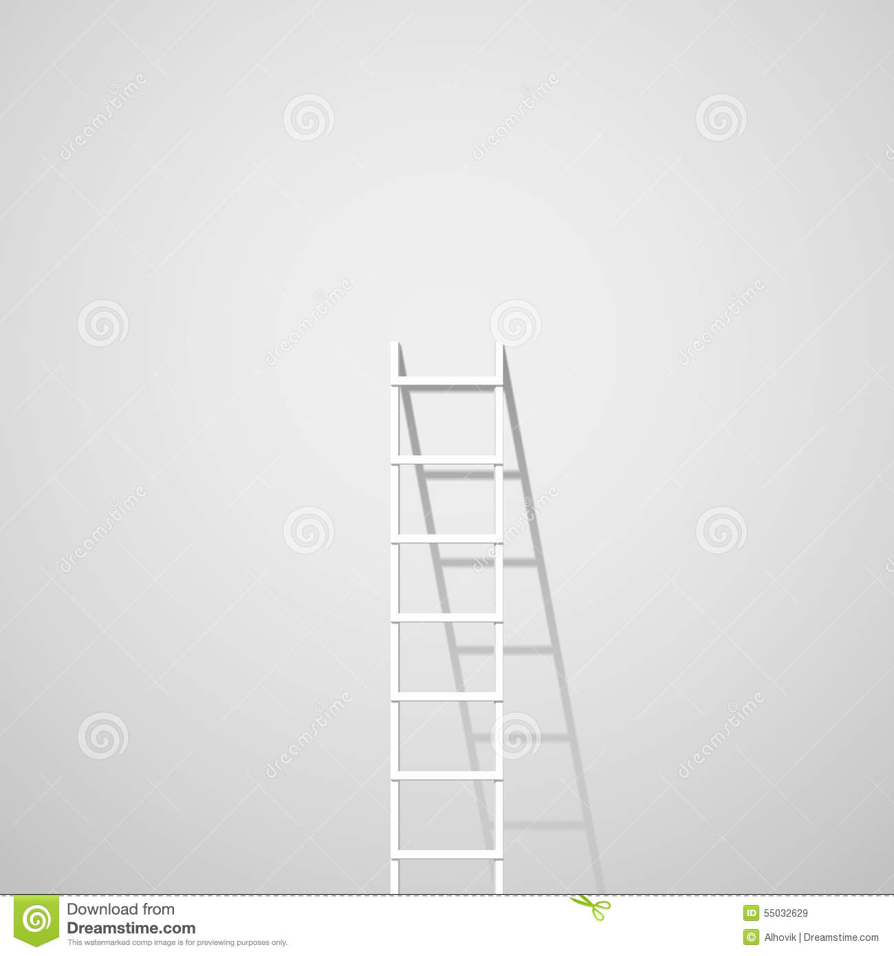 Echelle En Bois Blanche : Black and White Ladder