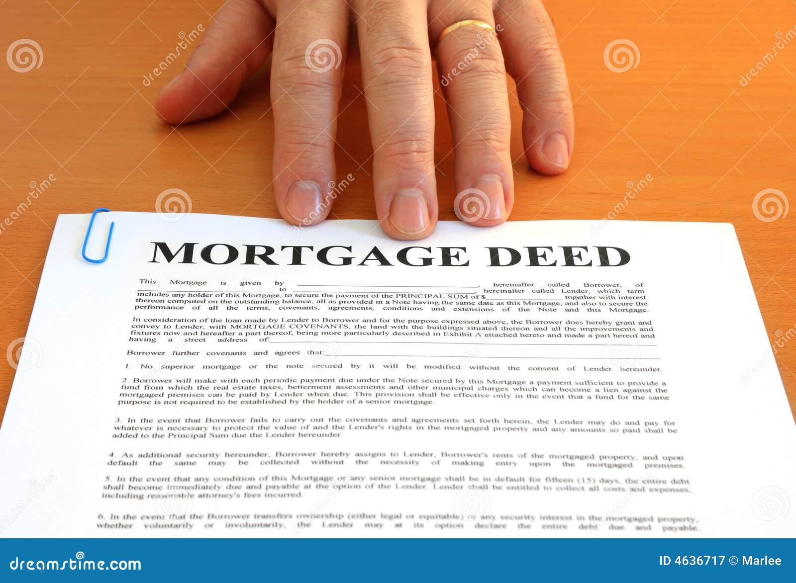Ação e mão de hipoteca