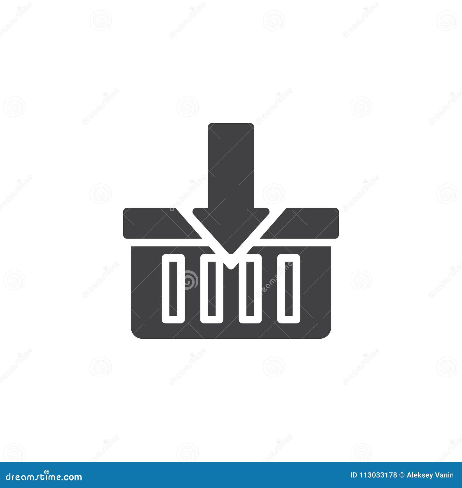 Añada al icono del vector del carro