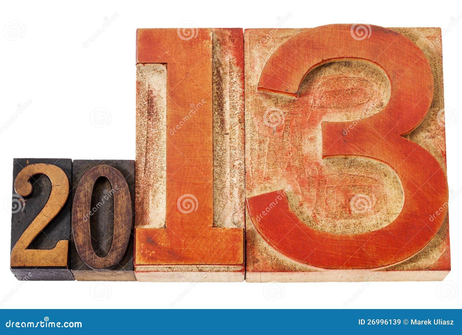 Año 2013 en el tipo de madera