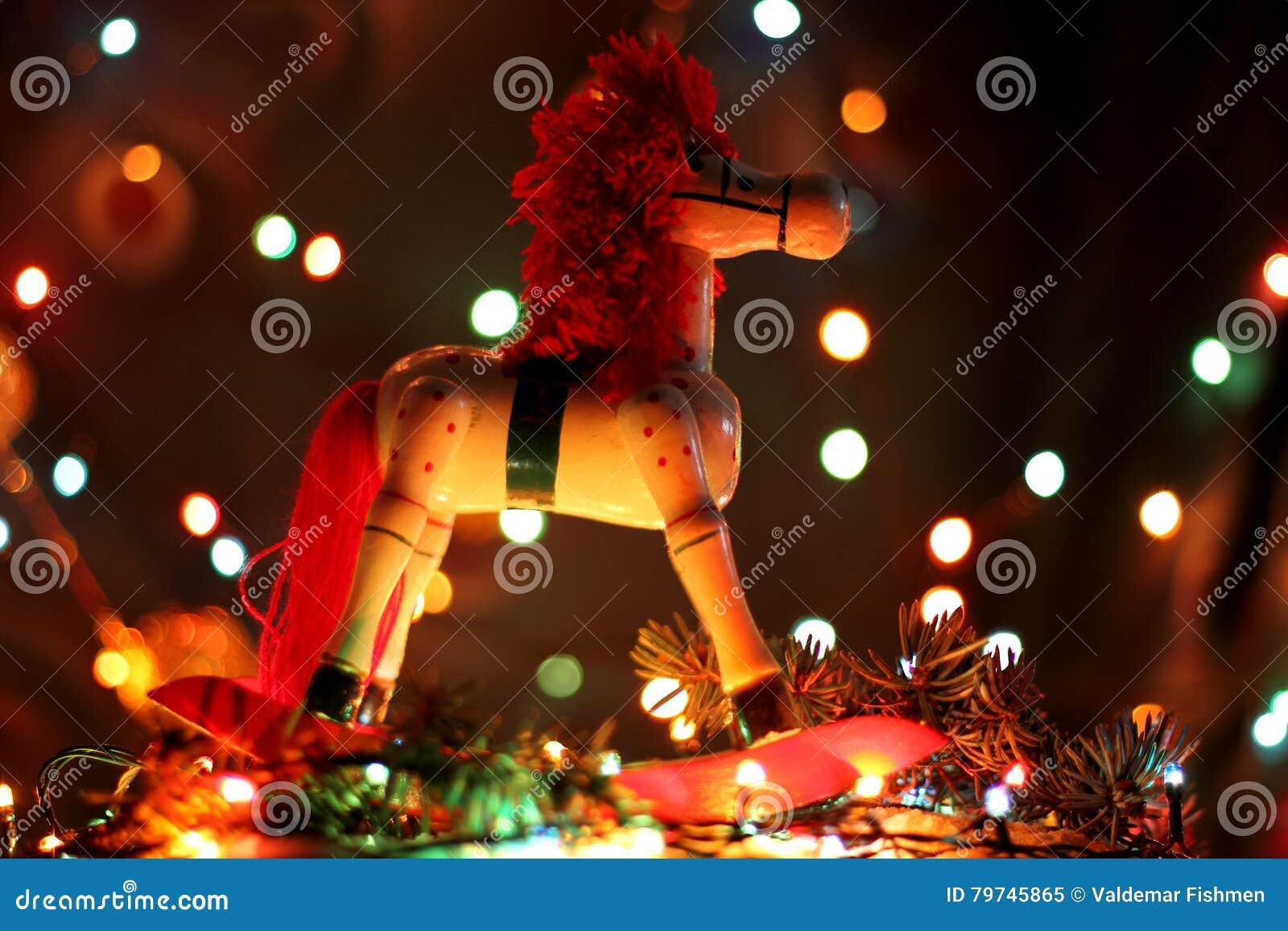 Año del papel pintado de la Navidad del caballo