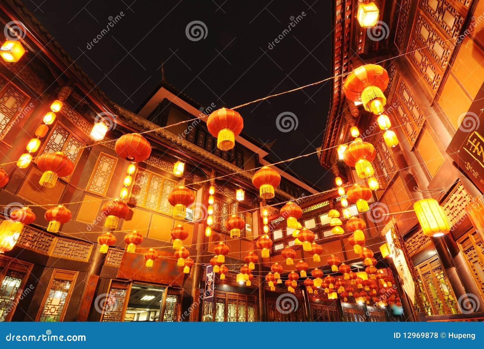 Año Nuevo chino en la calle vieja de Jinli