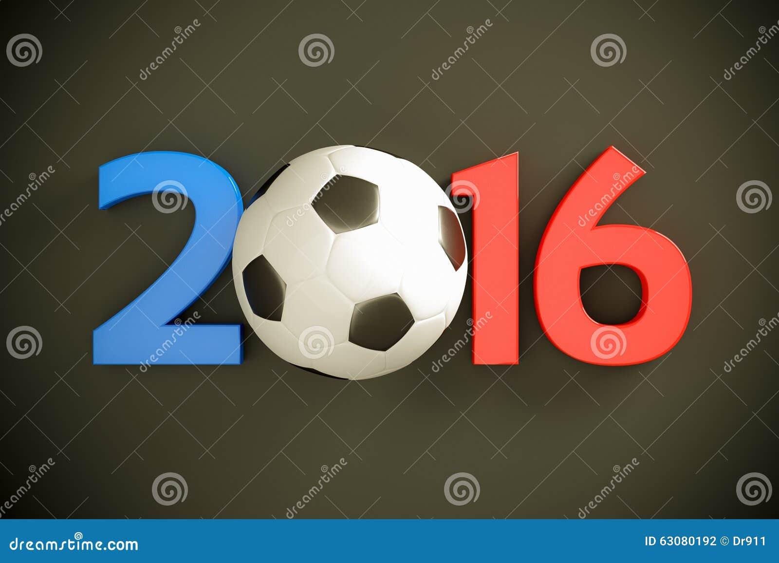 Año Nuevo y balón de fútbol