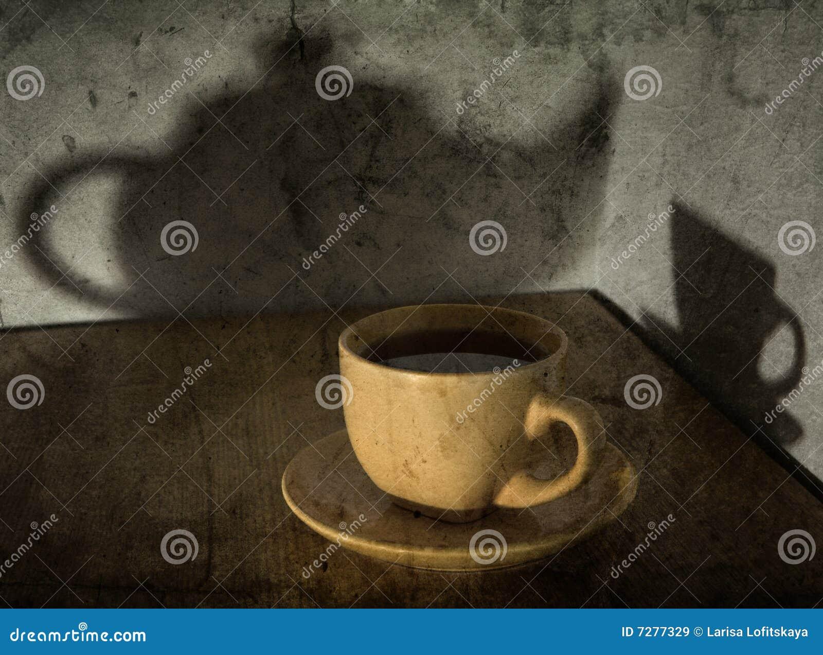 Aún-vida con una taza de té