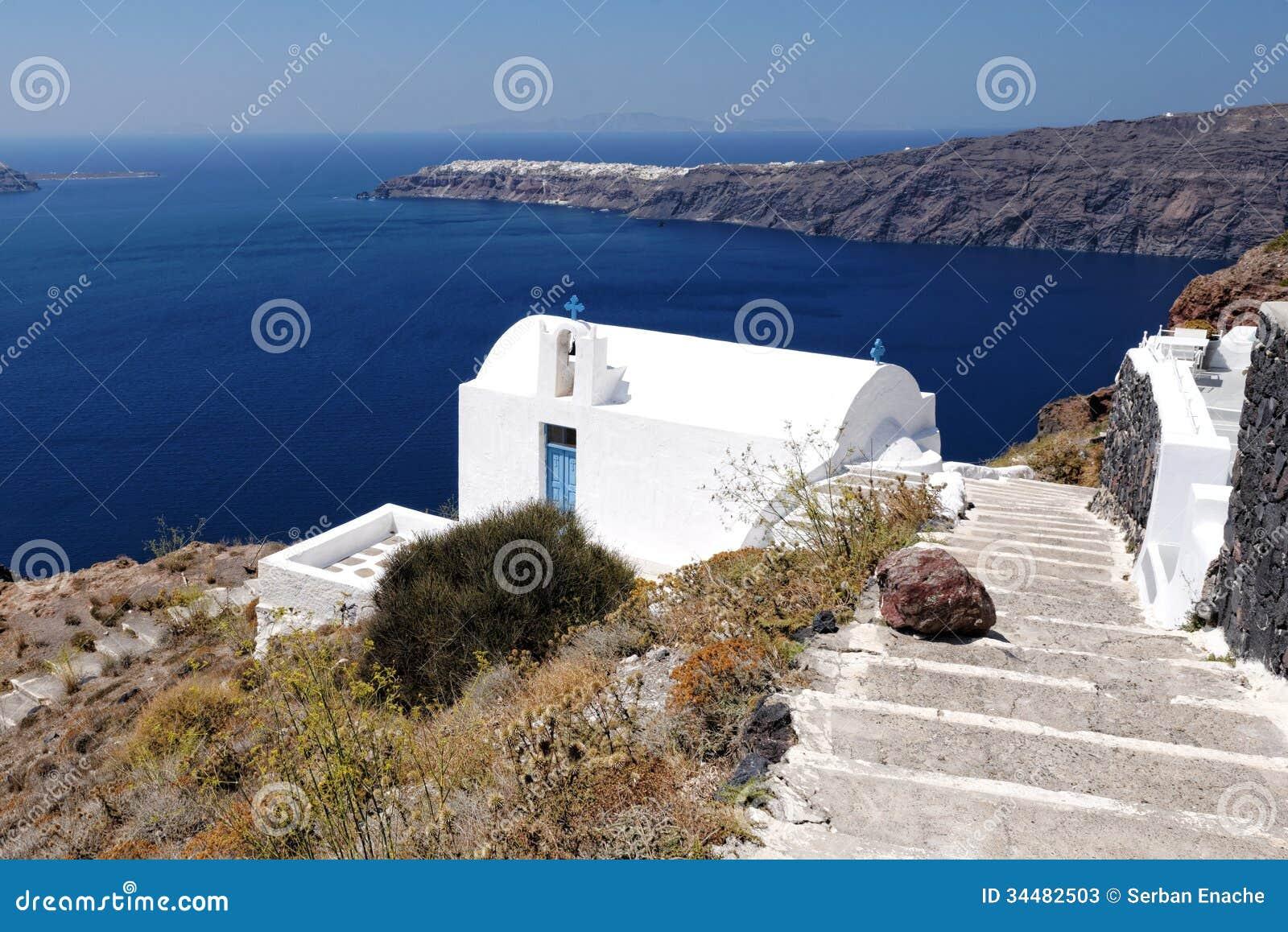 Ażio Georgios kościół, Santorini