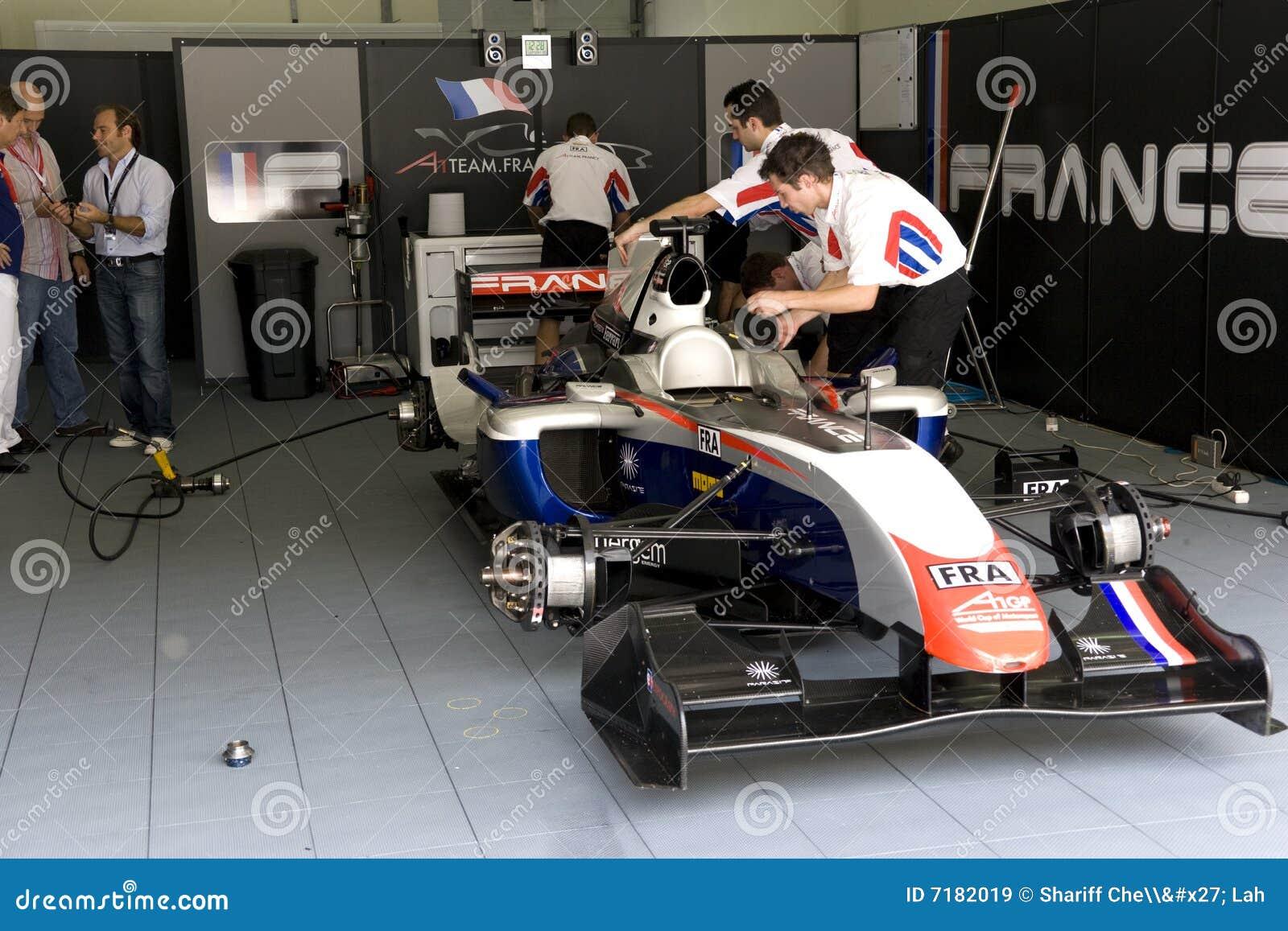 A1GP - Team France Pit Crew Action