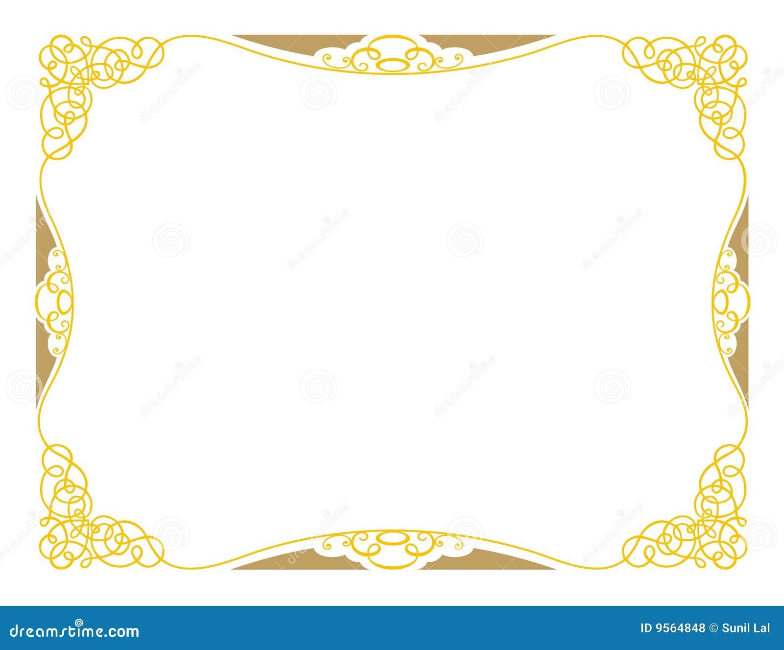 A3 świadectwa projekta ornamental