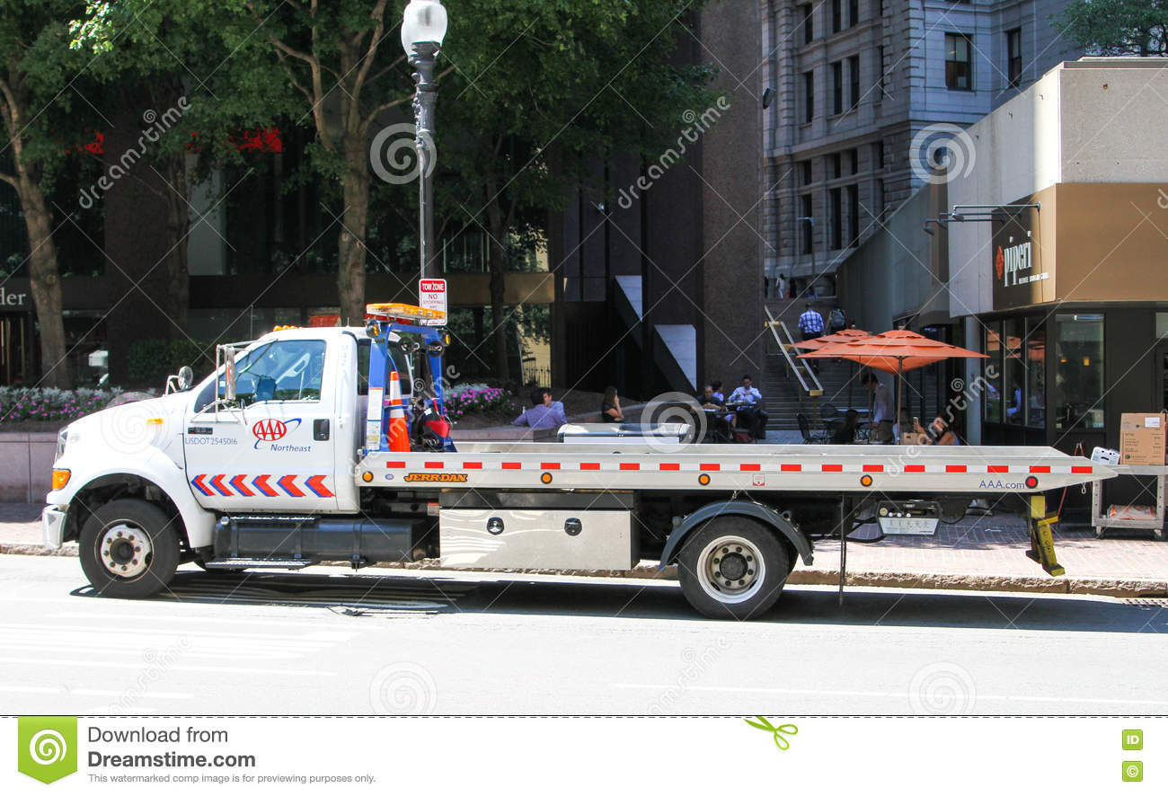 Flatbed Tow Truck >> AAA Flatbed Tow Truck. editorial photography. Image of ...