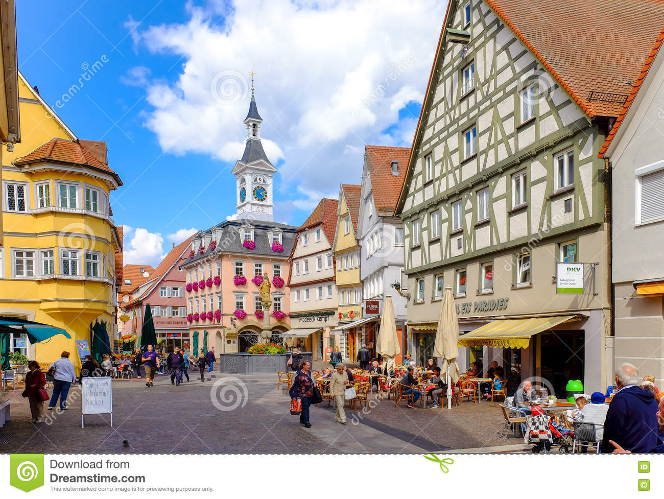 Aalen Germany Sept 2015 Main City Square Traditional German