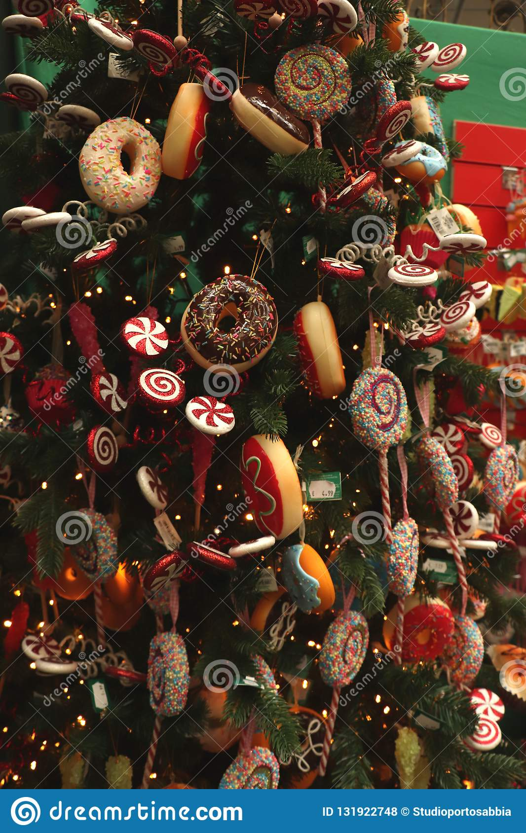 Candy Christmas Tree Decorations.Aalsmeer The Netherlands November 7th 2018 Candy