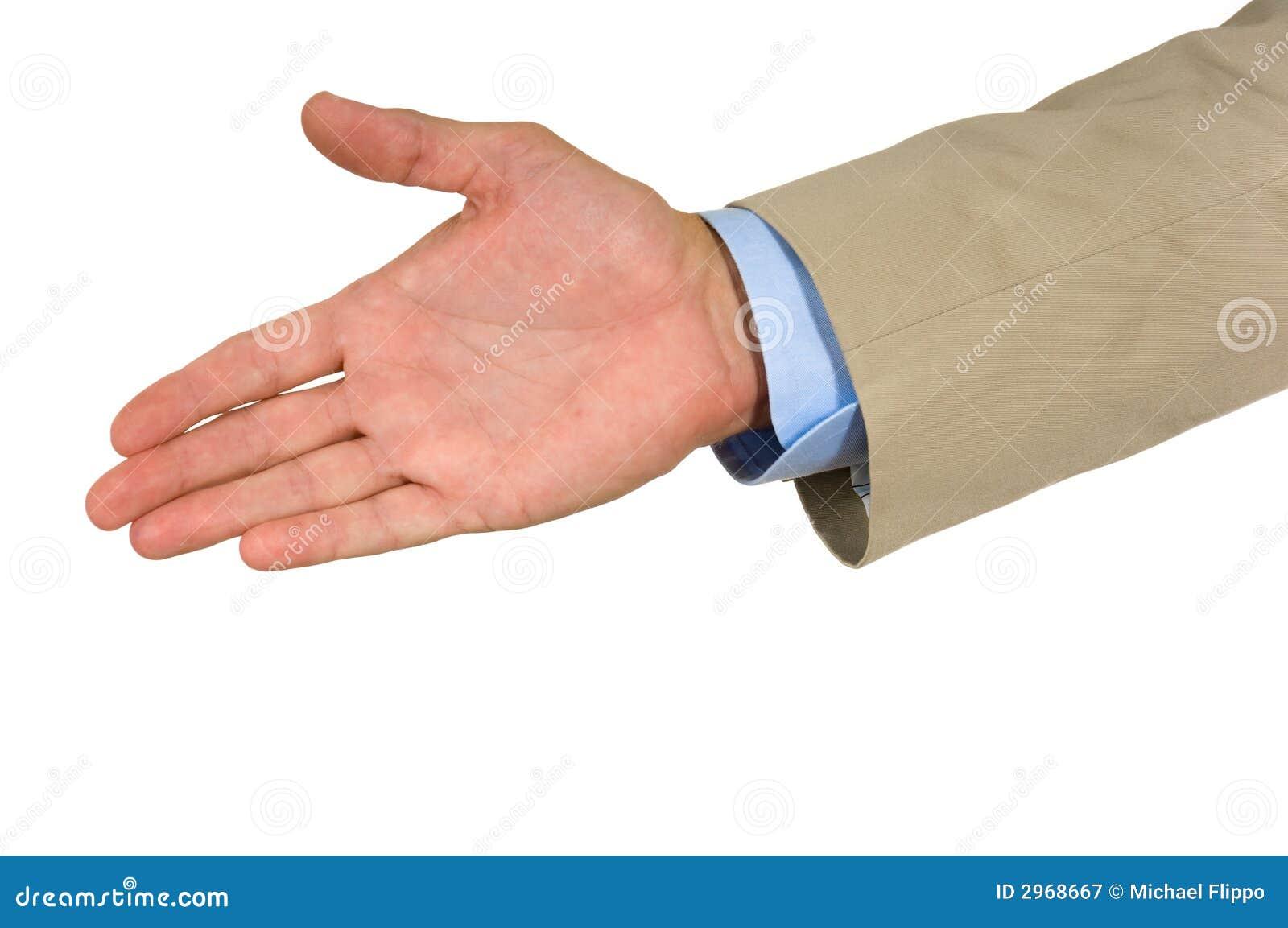 Aangeboden hand