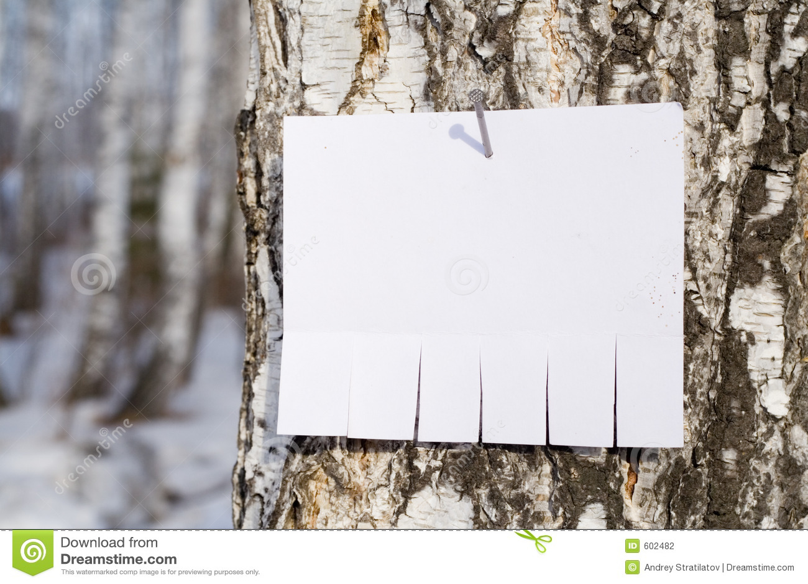 Aankondiging op boom