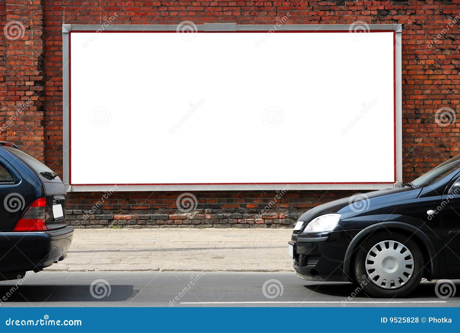 Aanplakbord in de straat