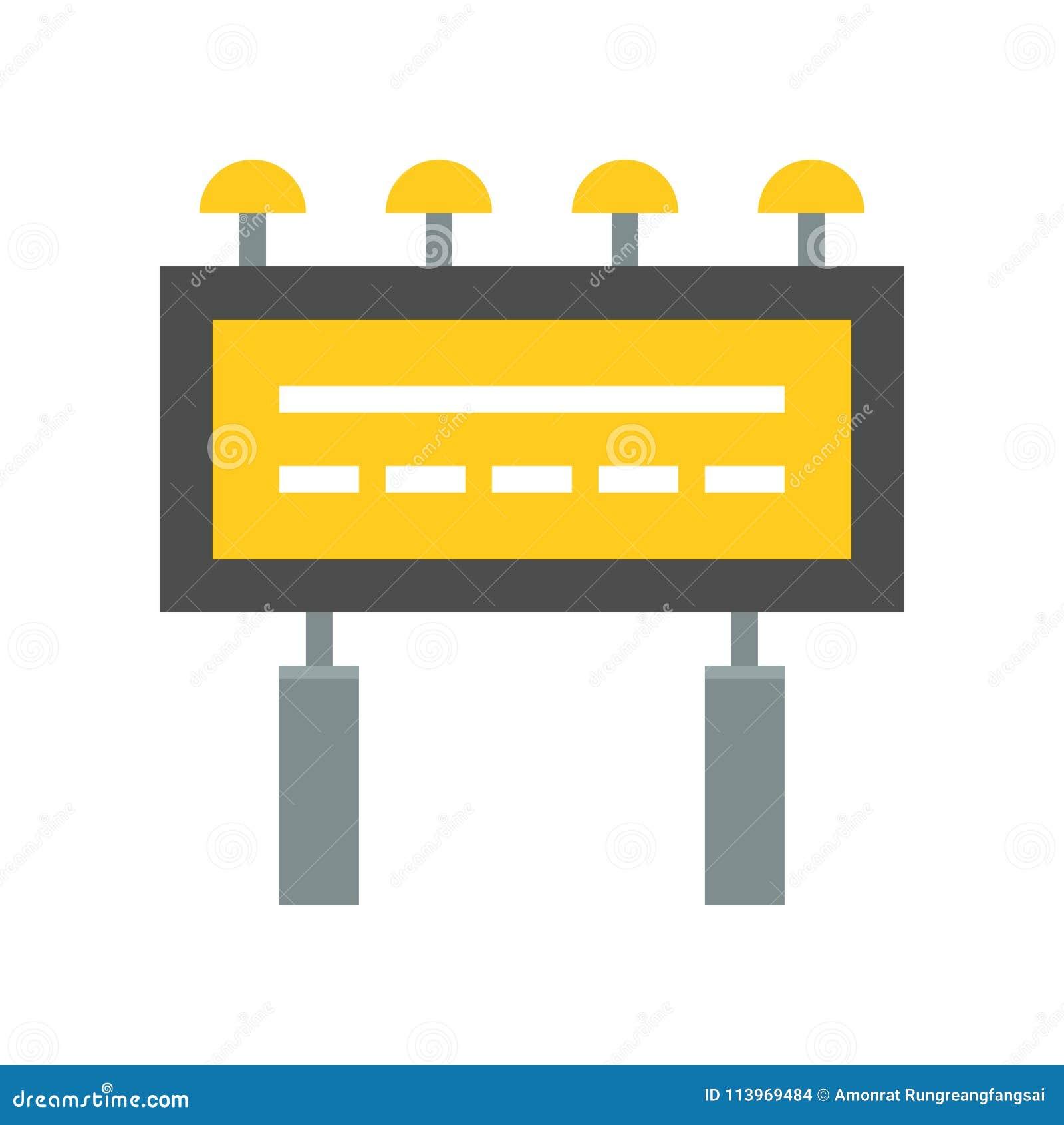 Aanplakbord reclamepictogram