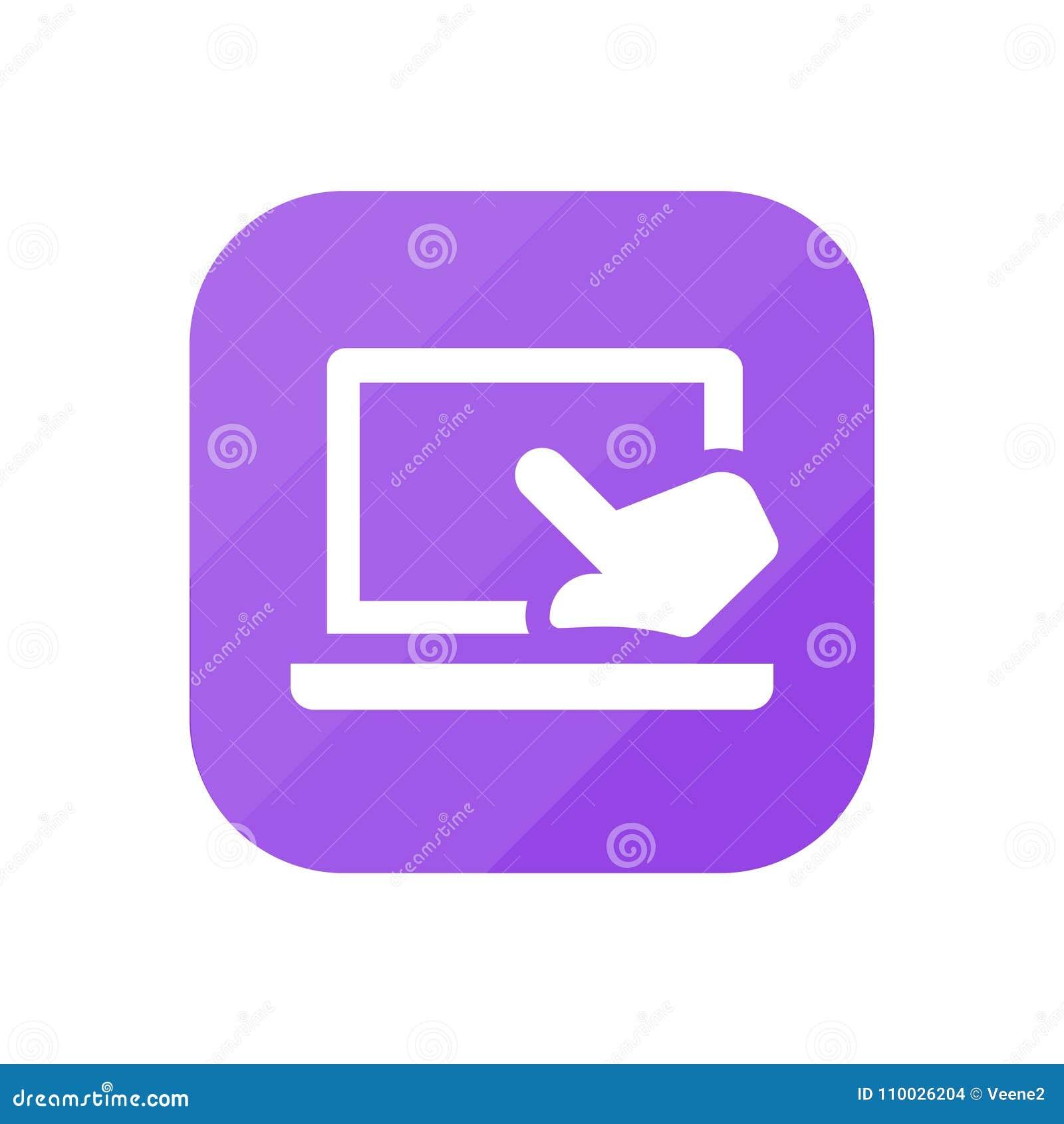 Aanrakingslaptop - App Pictogram