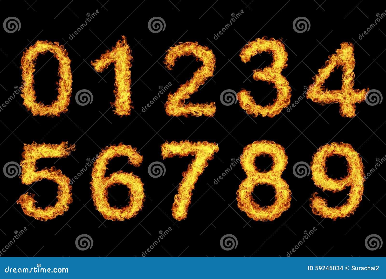 Aantal van brand wordt gemaakt die