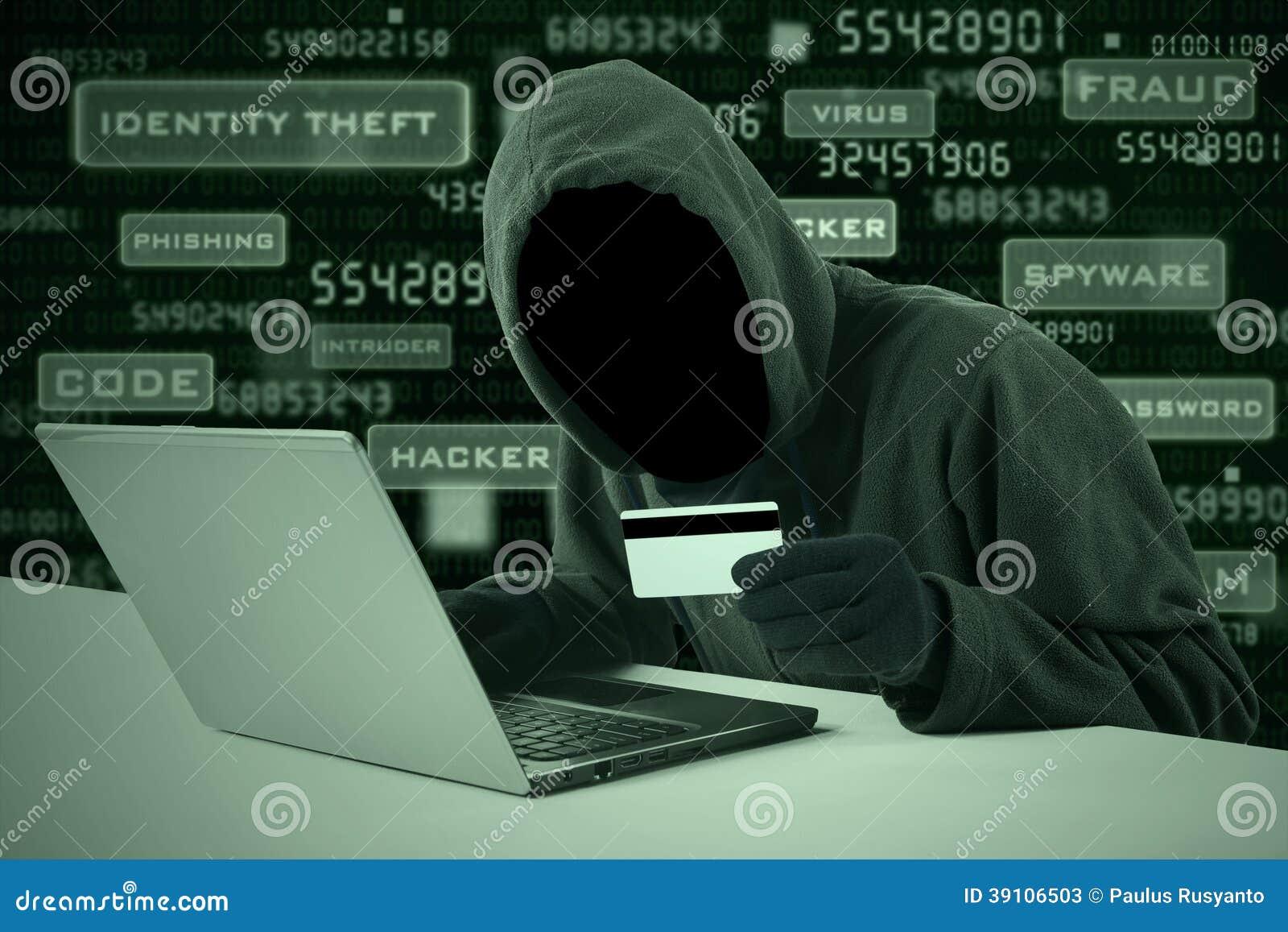 Aantal van de hakker stealing creditcard