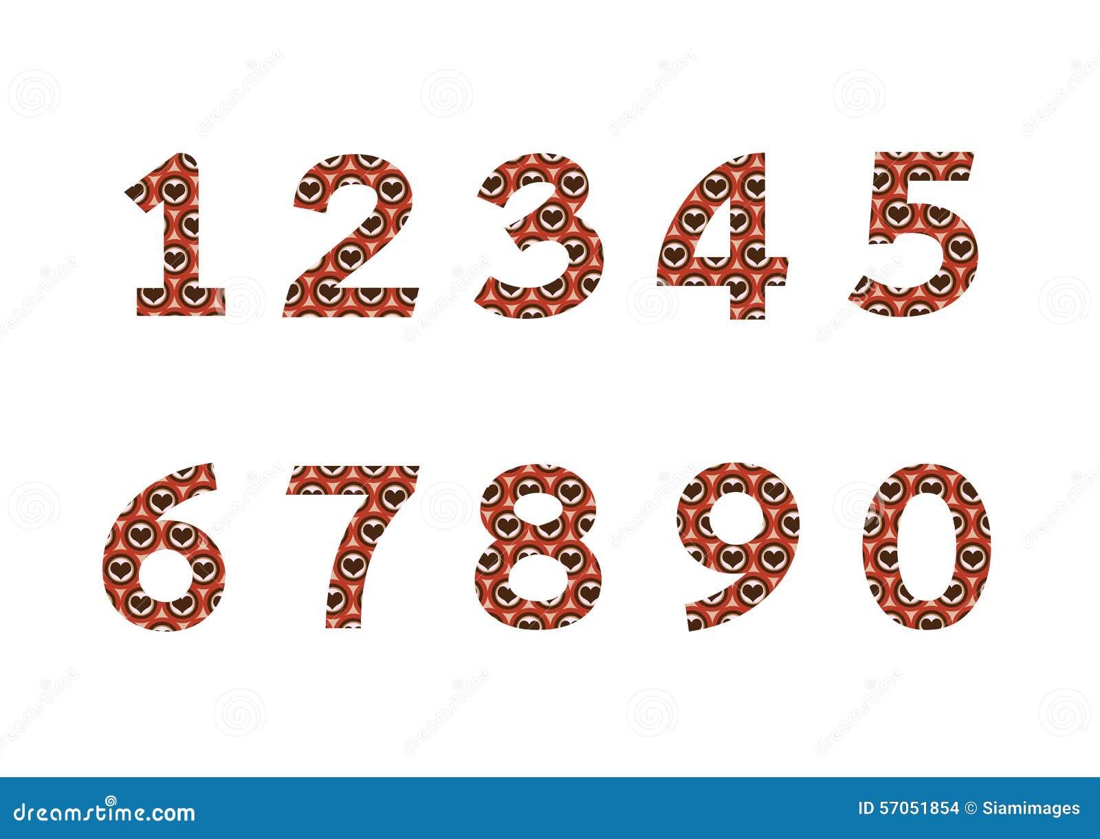 Aantallen in illustratie, abstract aantal worden geplaatst dat